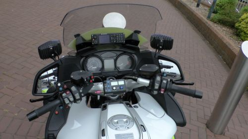 Police Motorcycle Handlebars View