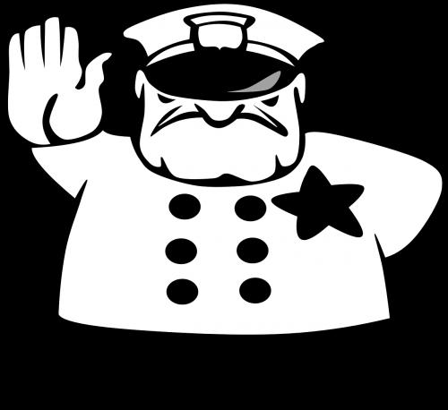 policeman stop traffic