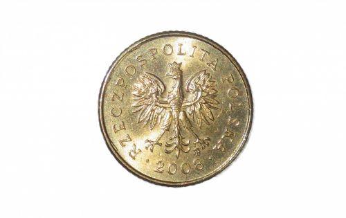 Polish One Grosz Coin Tail