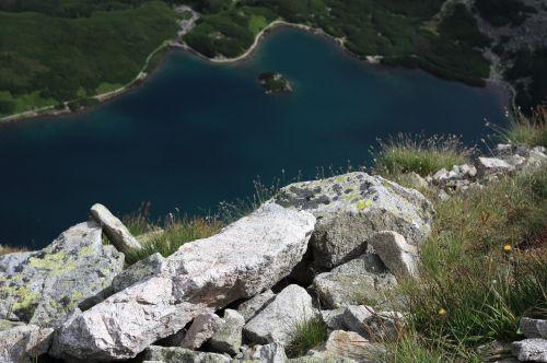 polish tatras the stones black pond tracked