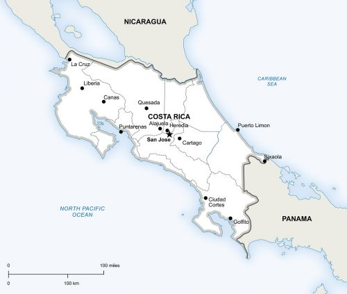 political map costa rica