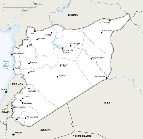 political map syria