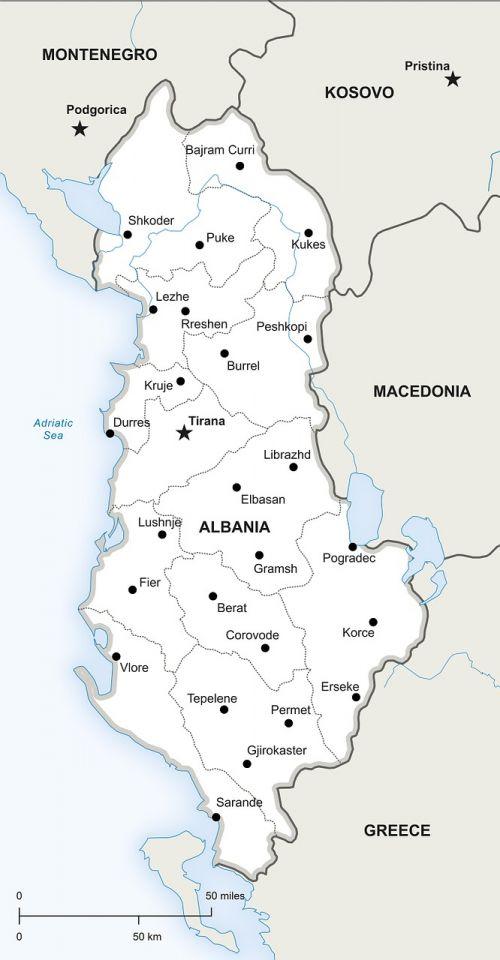political map albania