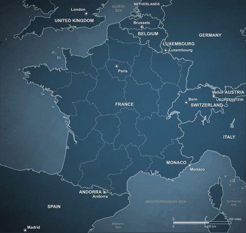 political map france
