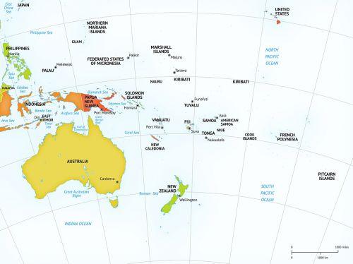 political map australia