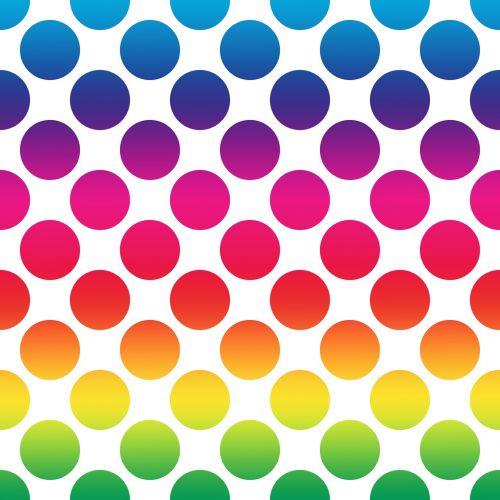 polka dots spectrum colours