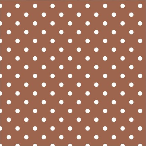 polka dots brown white