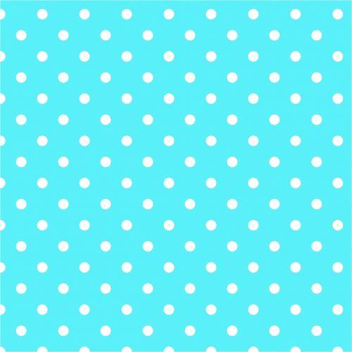 polka dots aqua blue