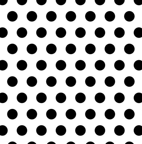 polka dots black white