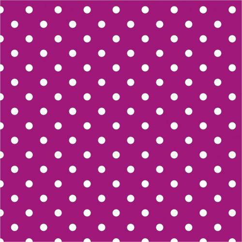 polka dots purple white