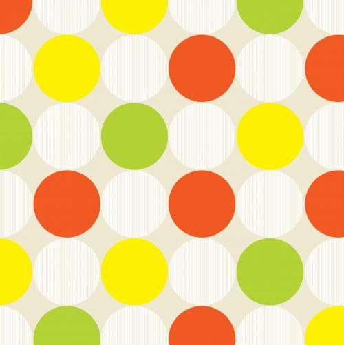 Polka Dots Background Colorful