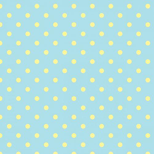 Polka Dots Blue Yellow