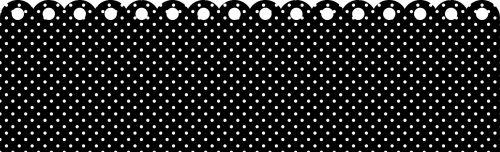 Polka Dots Border Black & White