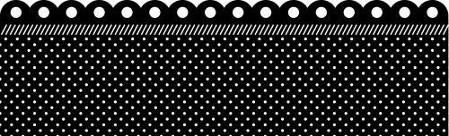Polka Dots Fancy Border