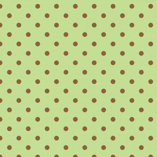 Polka Dots Green Background
