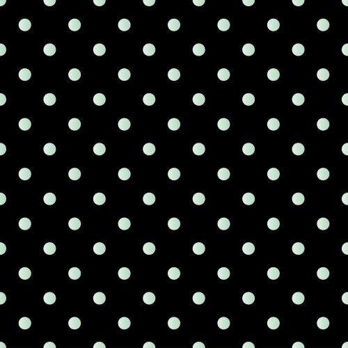 Polka Dots Green Black