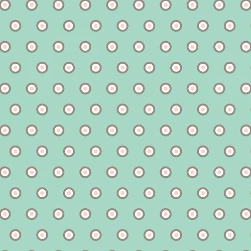 Polka Dots Green Pink Wallpaper