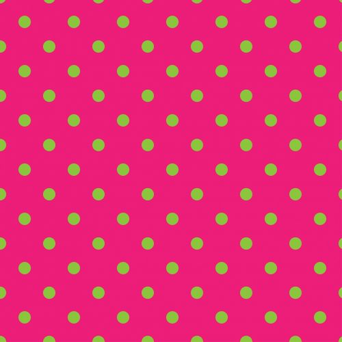 Polka Dots Pink & Green