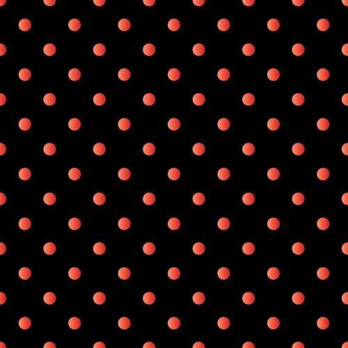 Polka Dots Red Black
