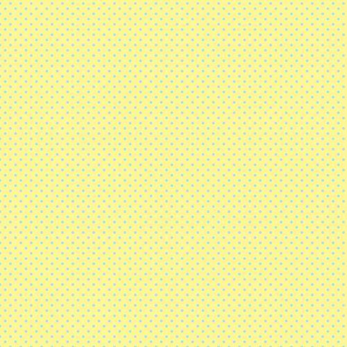 Polka Dots Yellow Blue