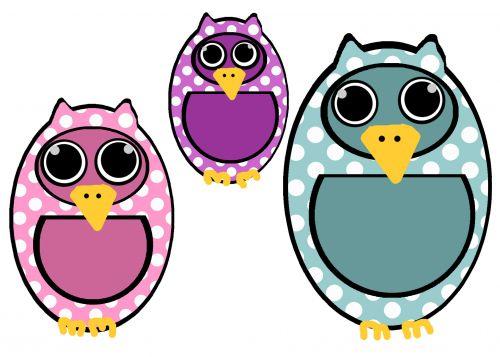 Polka Dot Owl Clip Art