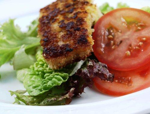 pollock fillet  fried saithe  fried fish