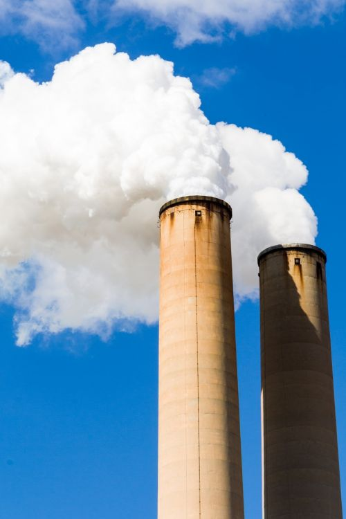 pollution smokestack industrial