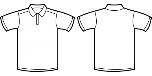 polo shirt clothing template