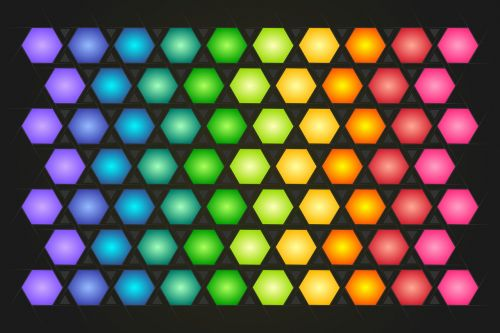 polygon background colorful