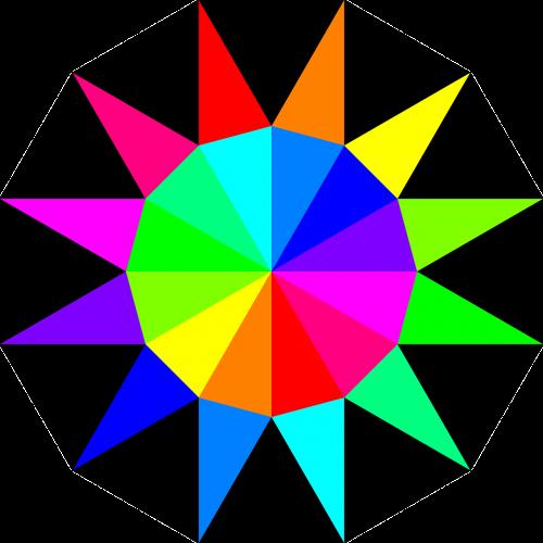 polygon rainbow pallet