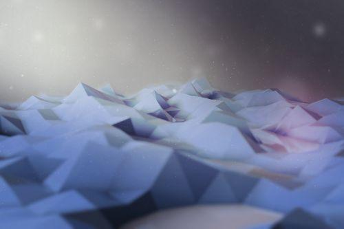 polygon blue scene