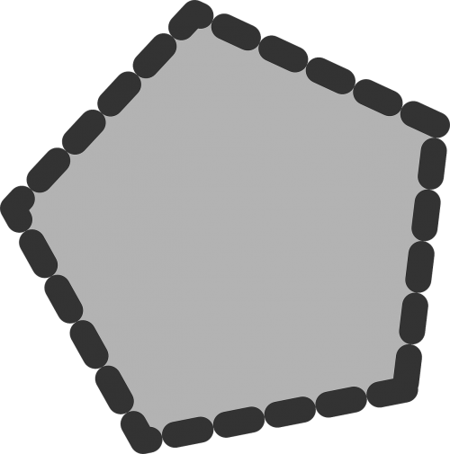 polygon dotted pentagon