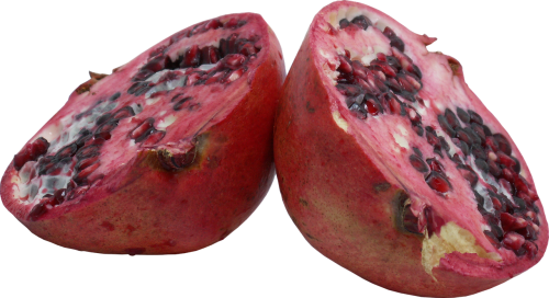 pomegranate garnet cut fruit