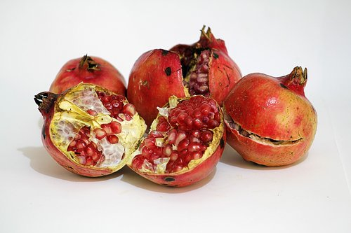 pomegranate  fruit open  sympathy