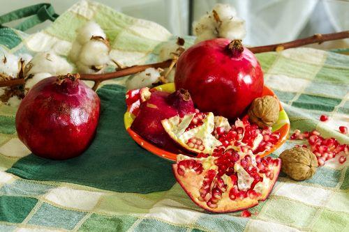 pomegranates fruit still life