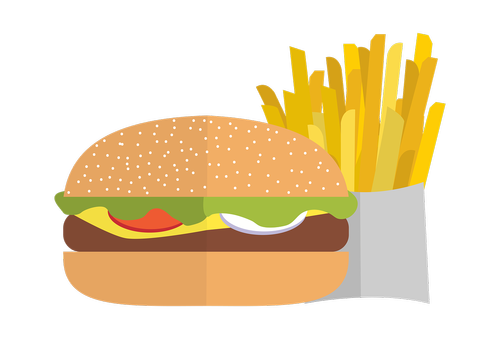 pommes  chips  burger