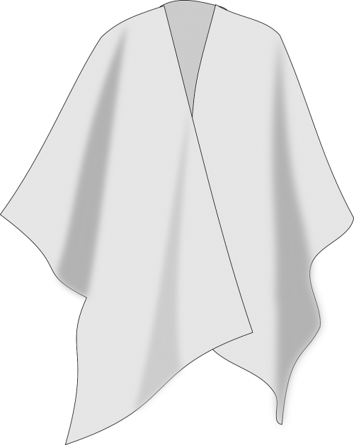 poncho cape dress