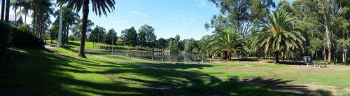 pond park grass