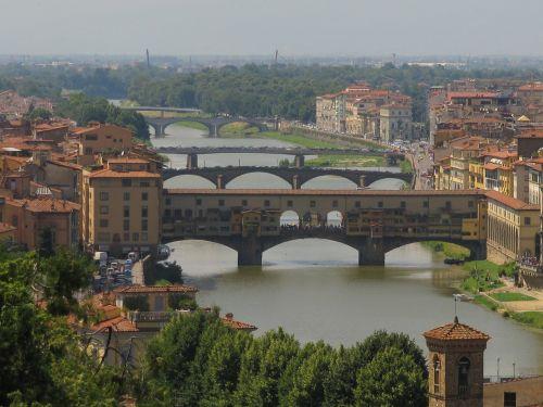 ponte vecchio florence panorama