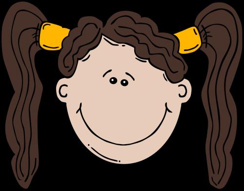 ponytails girl face