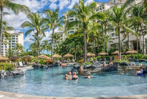 pool resort tropical