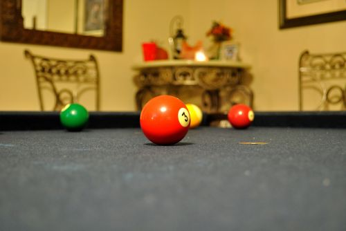 pool billiards red ball