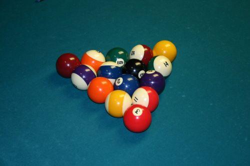 pool balls table