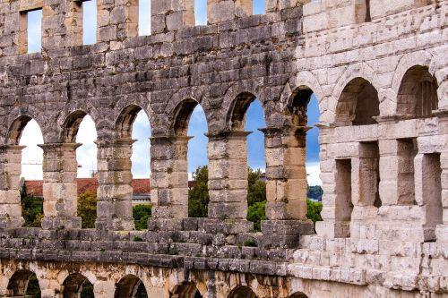 pool croatia amphitheater