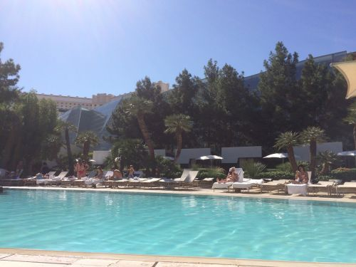 pool aria vegas