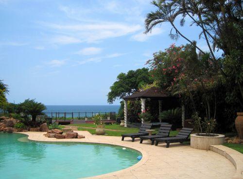 Poolside And Ocean