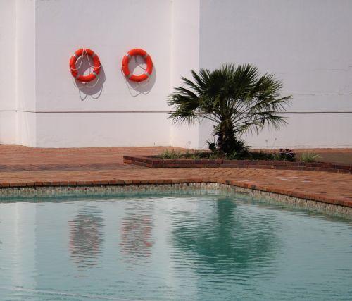 Poolside Scene