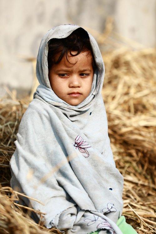 poor kid  cute girl  poor