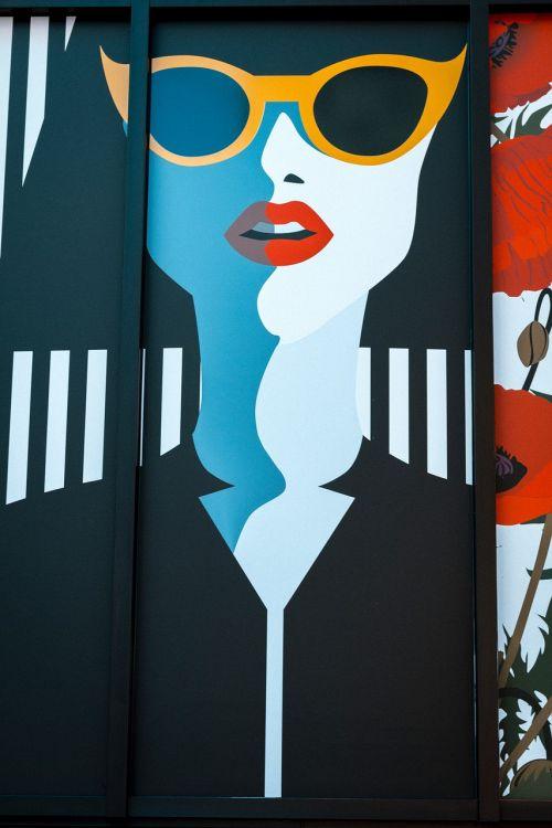 pop art girl eyeglasses