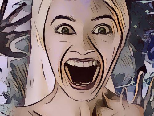 pop art terror woman